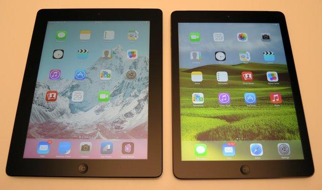 comparatie ipad air ipad 4