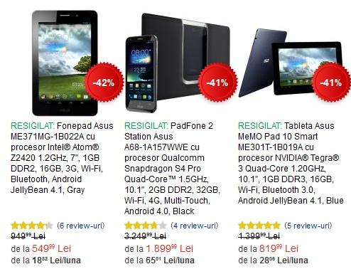 tablete ieftine resigilate